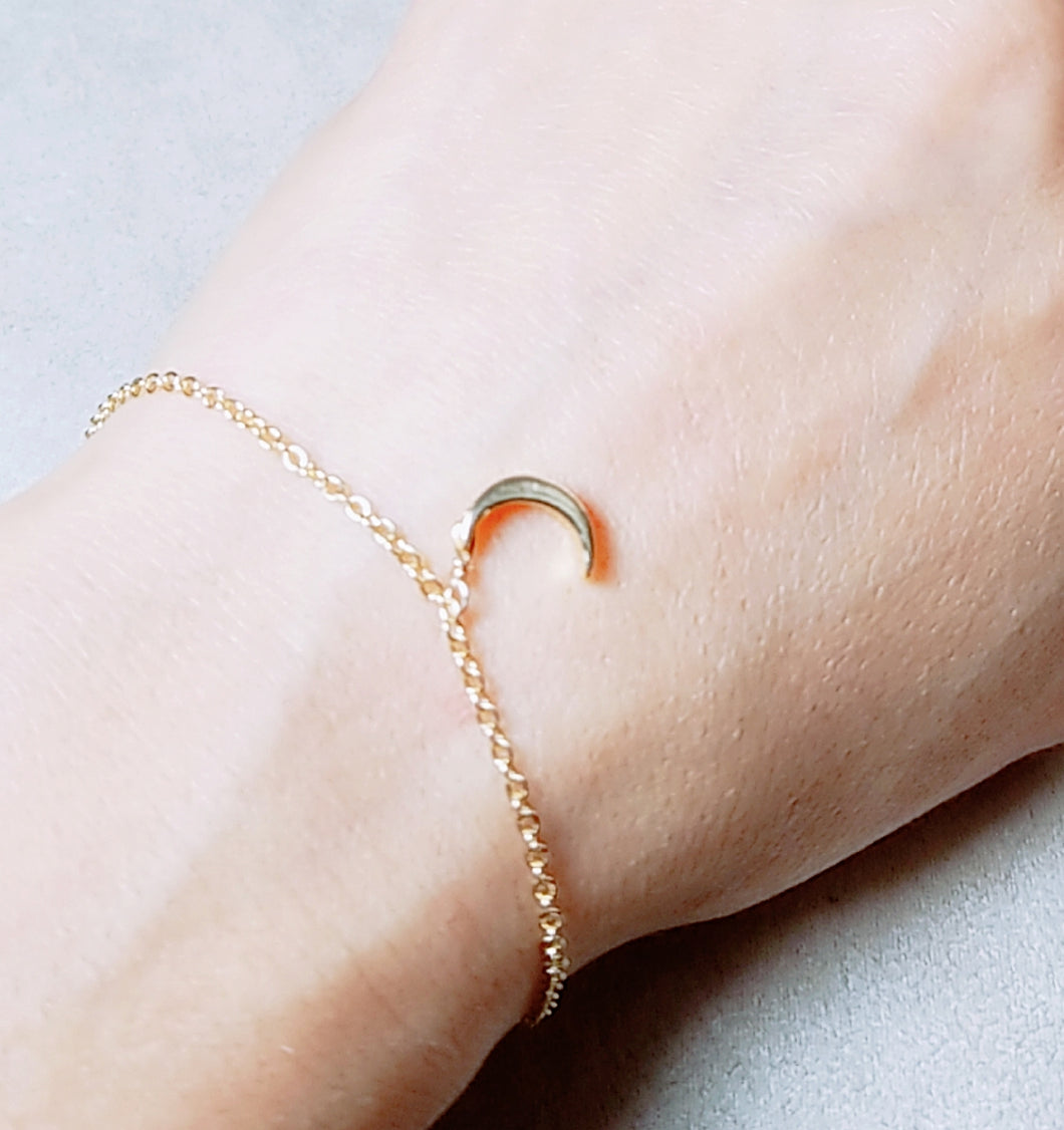 Moon dangle bracelet