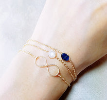 Load image into Gallery viewer, Infinity minimalist gold bracelet