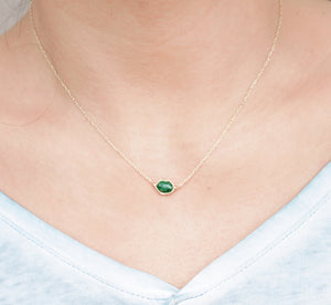 Emerald green aventurine necklace
