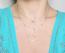 Load image into Gallery viewer, Crescent necklace / Oval shaped necklace