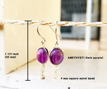 Load image into Gallery viewer, Amethyst minimalist earring