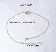 Load image into Gallery viewer, Evil eye anklet / Wishbone anklet