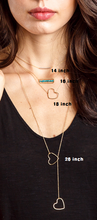 Load image into Gallery viewer, Silver bar necklace / Heart necklace/ Turquoise bar necklace/ Heart  lariat necklace