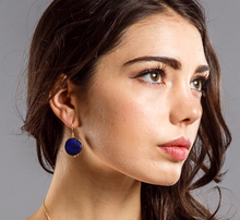Load image into Gallery viewer, Lapis lazuli big gem stone earring