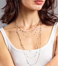 Load image into Gallery viewer, Multiple metal bead chain necklace / Earring / Necklace & earring set