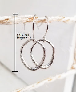 Irregular oval dangle earring
