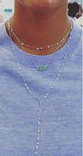 Load image into Gallery viewer, Delicate Y shaped bead necklace / Mini bead short necklace