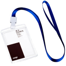 Load image into Gallery viewer, Reap 7179 PS 86*54mm with lanyard ID/IC card holder name tag badge for Kids Name LabelSchool Camp Office Business