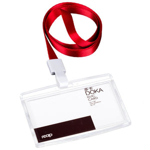 Reap 7179 PS 86*54mm with lanyard ID/IC card holder name tag badge for Kids Name LabelSchool Camp Office Business