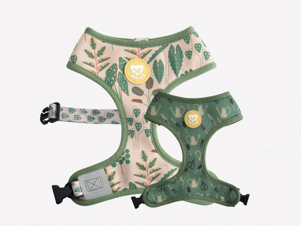 PLANTS REVERSIBLE DOG HARNESS