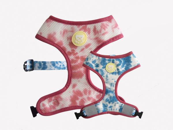 TIE-DYE REVERSIBLE DOG HARNESS