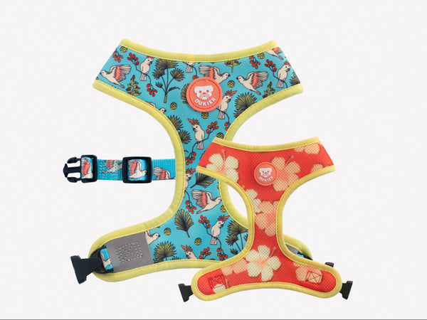 BIRDS REVERSIBLE DOG HARNESS