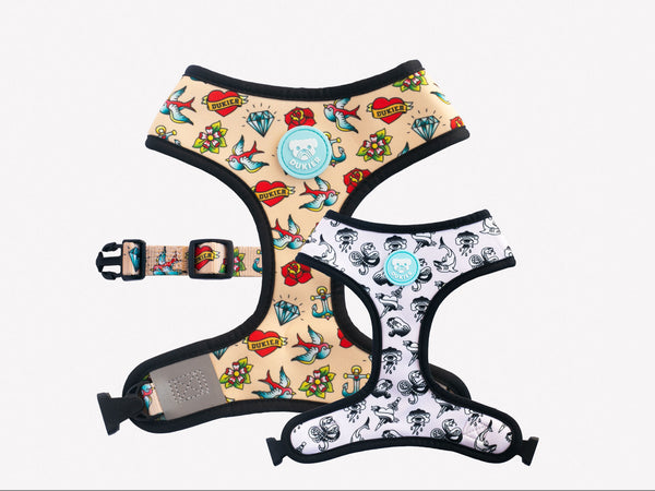 TATTOO REVERSIBLE DOG HARNESS