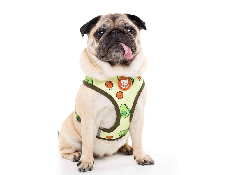 AVOCADO REVERSIBLE DOG HARNESS - Dukier Store