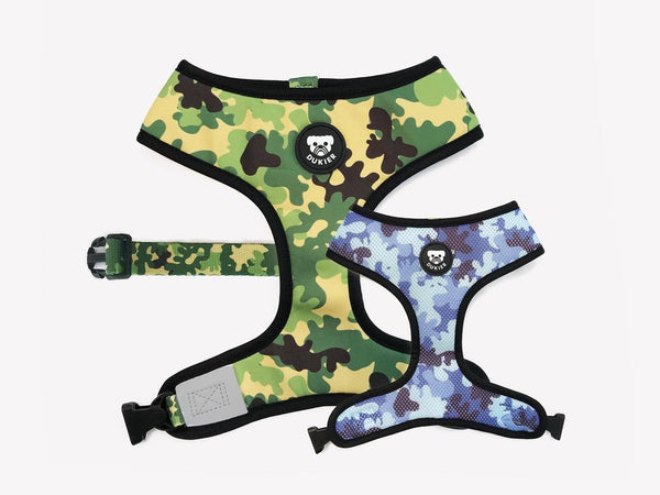 CAMO REVERSIBLE DOG HARNESS - Dukier Store