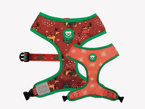 CHRISTMAS REVERSIBLE DOG HARNESS - Dukier Store
