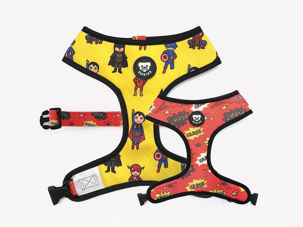 REVERSIBLE SUPERDOG DOG HARNESS - Dukier Store