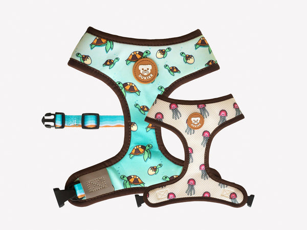 TURTLE REVERSIBLE DOG HARNESS - Dukier International Store