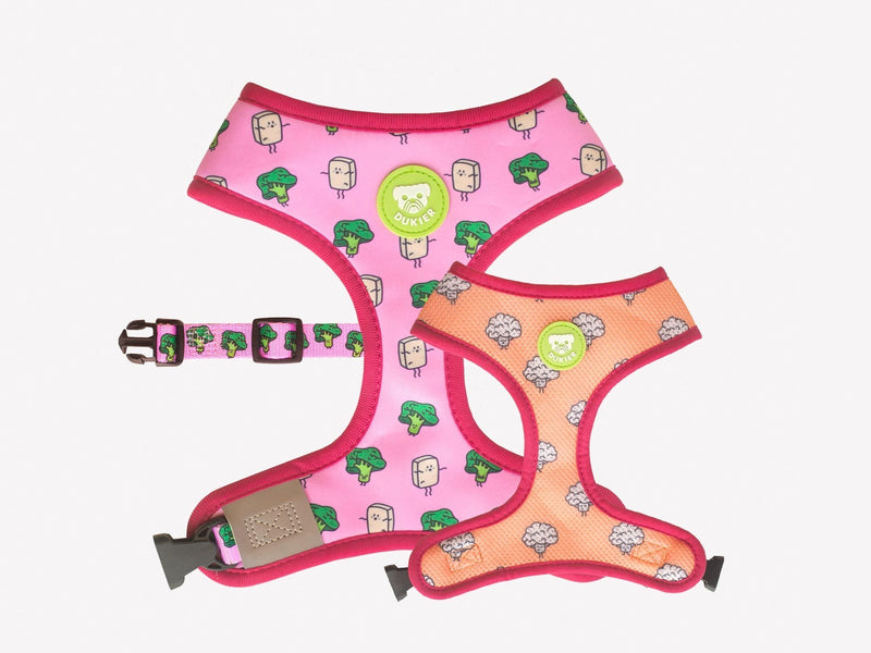 VEGAN REVERSIBLE DOG HARNESS - Dukier International Store