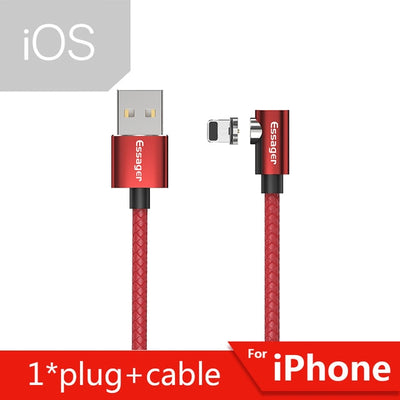 Essager Magnetic Charger Micro USB Cable for iPhone Samsung Android Mobile Phone Fast Charging Wire Cord Magnet USB Type C Cable