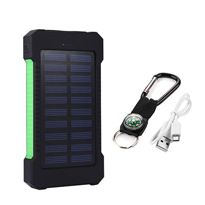 Portable Solar Power Bank Charger