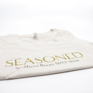 """Seasoned"" V-Neck Ladies T-Shirt"
