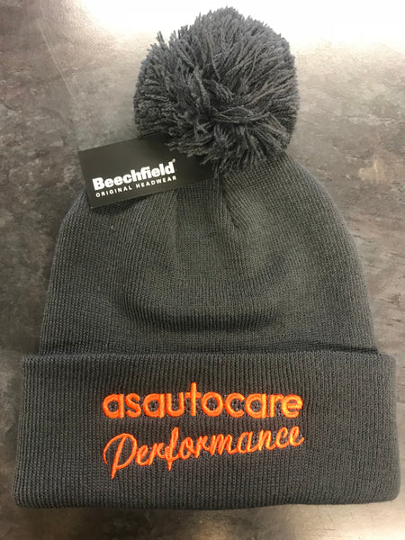 asautocare performance bobble hat!! (grey)