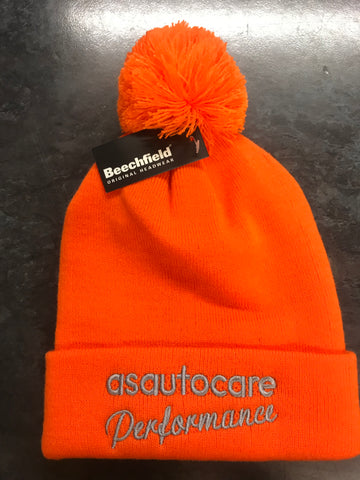 asautocare performance bobble hat!! (orange)