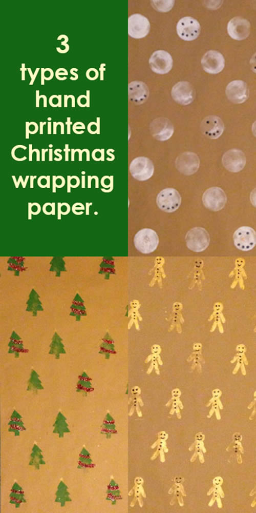 3 types of christmas wrapping paper