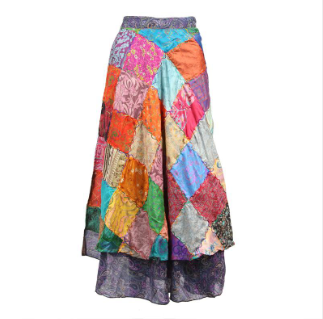 Upcycled Sari Wrap Skirt