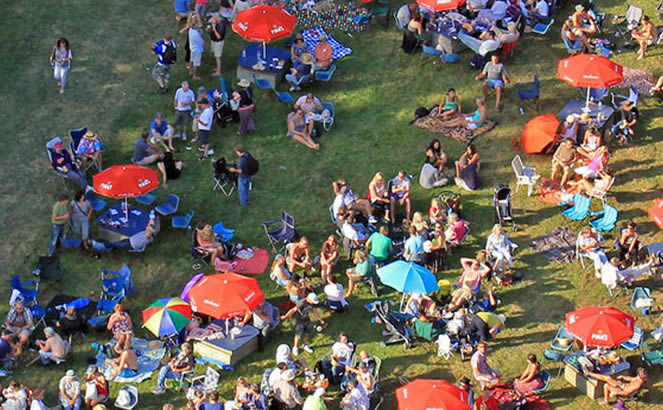 Aerial View of Blues on the farm