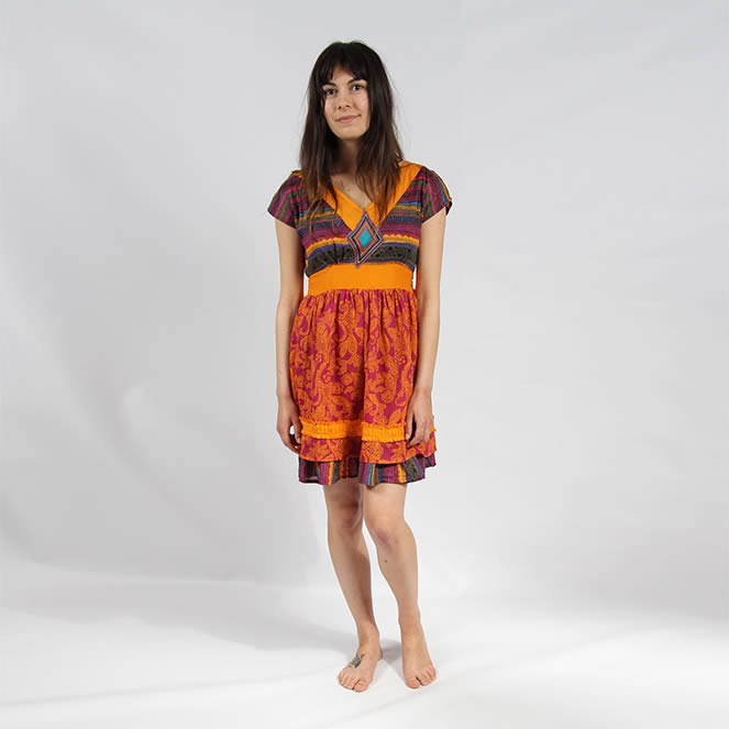 embroidered hippy dress