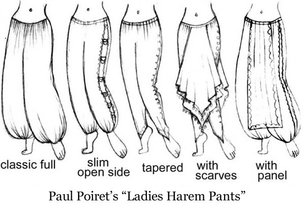 Paul Poiret's Harem Pants