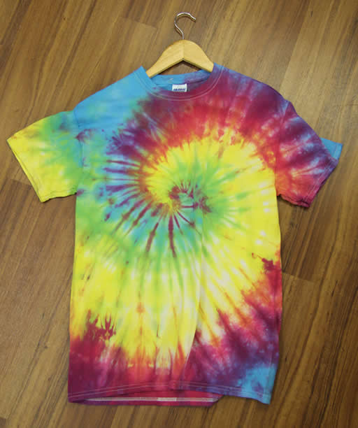 The finished tie dye t-shirt