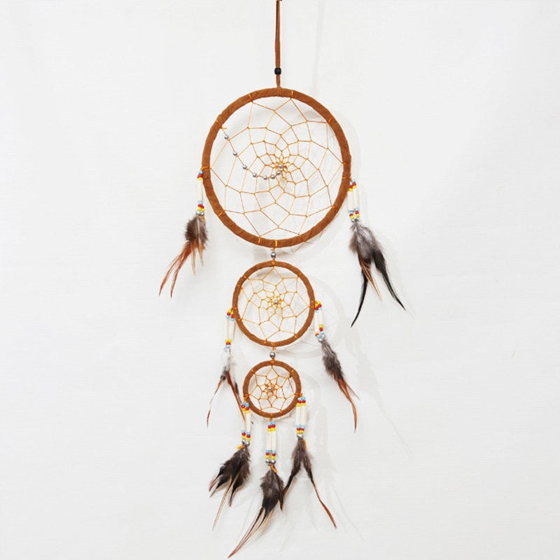 Triple Faux Suede Dreamcatcher