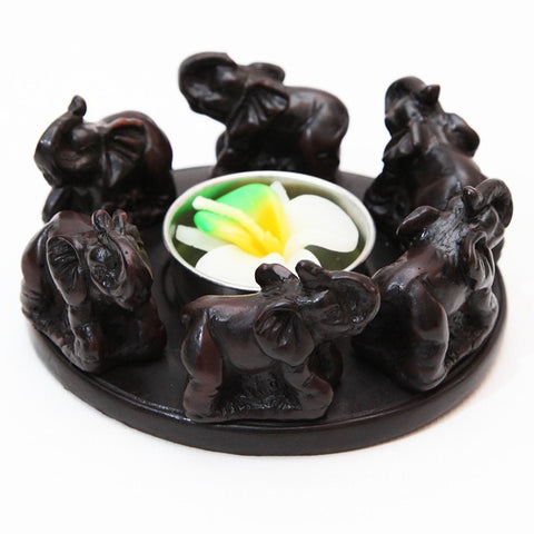 Circle of Elephants T-Light Holder