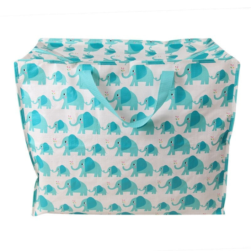 Elephant Print Recycled Laundry Bag