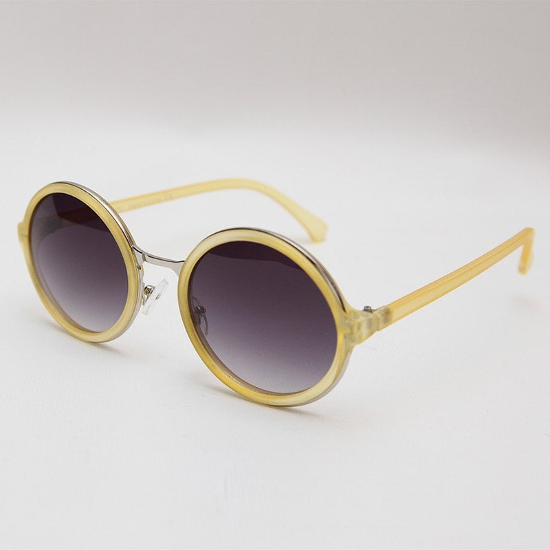 Pastel Round Sunglasses with Metal Bridge
