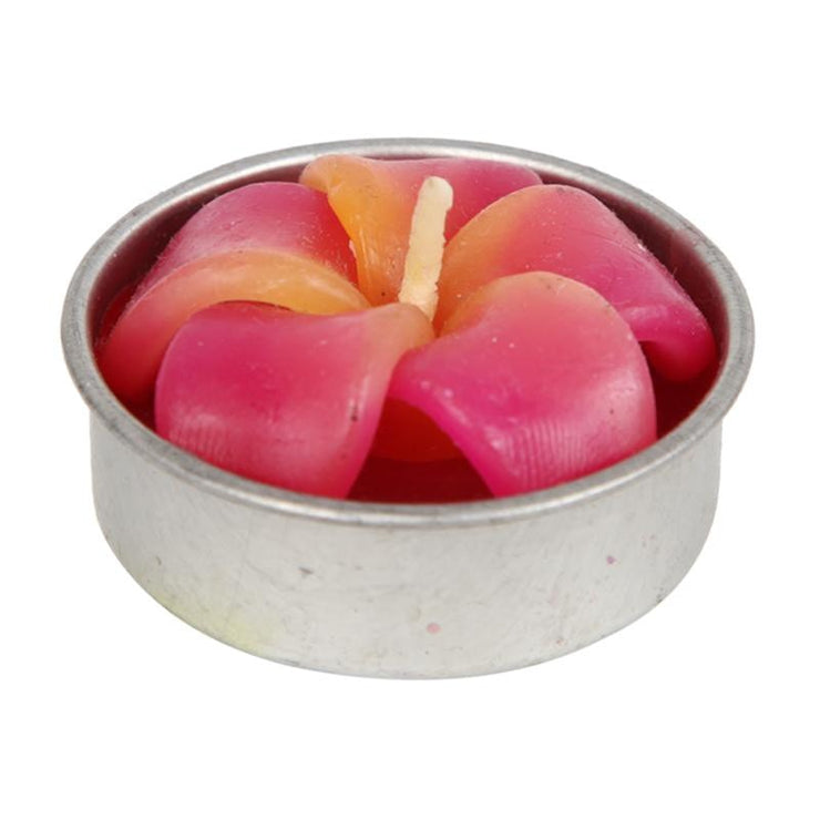 Scented Flower T-light Candle Set of 10