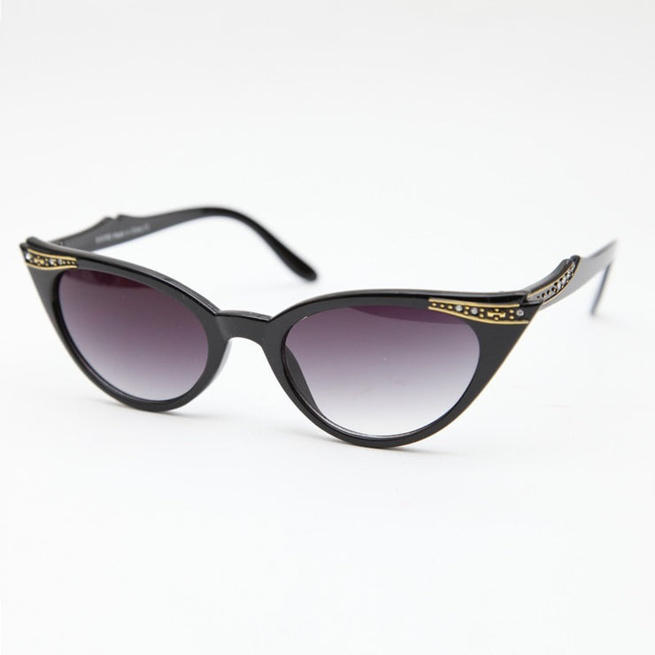 Gold Double Flick Cat Sunglasses