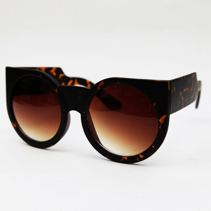 Oversized Round Cat Sunglasses