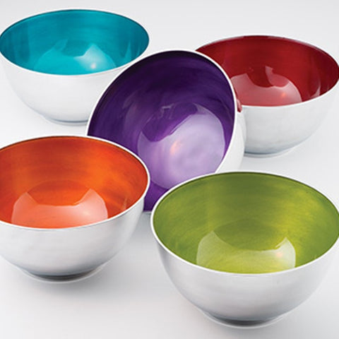 Recycled Aluminium Snack Bowl - Set of 5