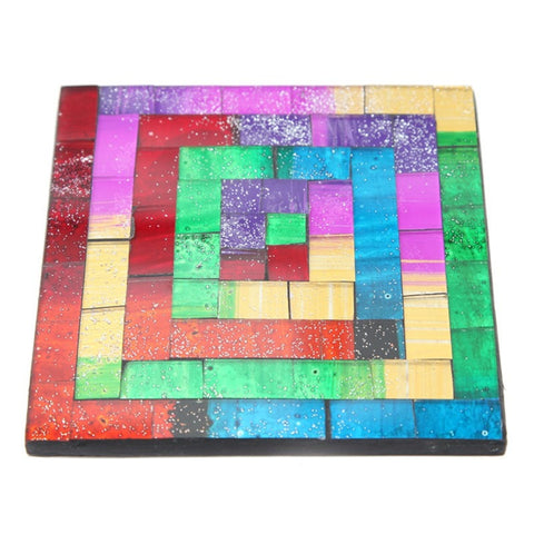 Square Mosaic Coaster Set