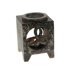 Stone Oil Burner Flower Pattern