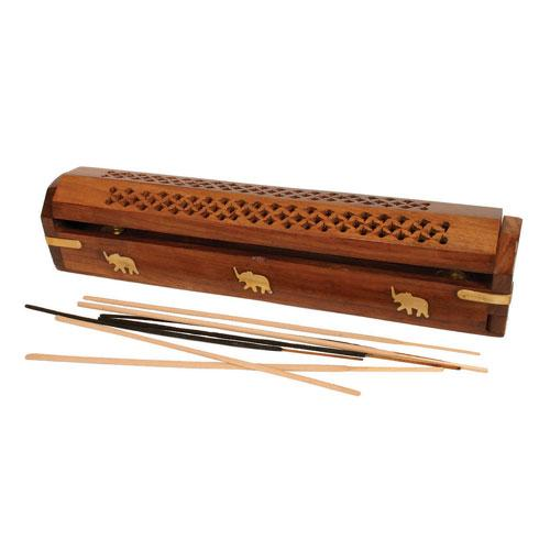 Fair Trade Shesham Wood Incense Box