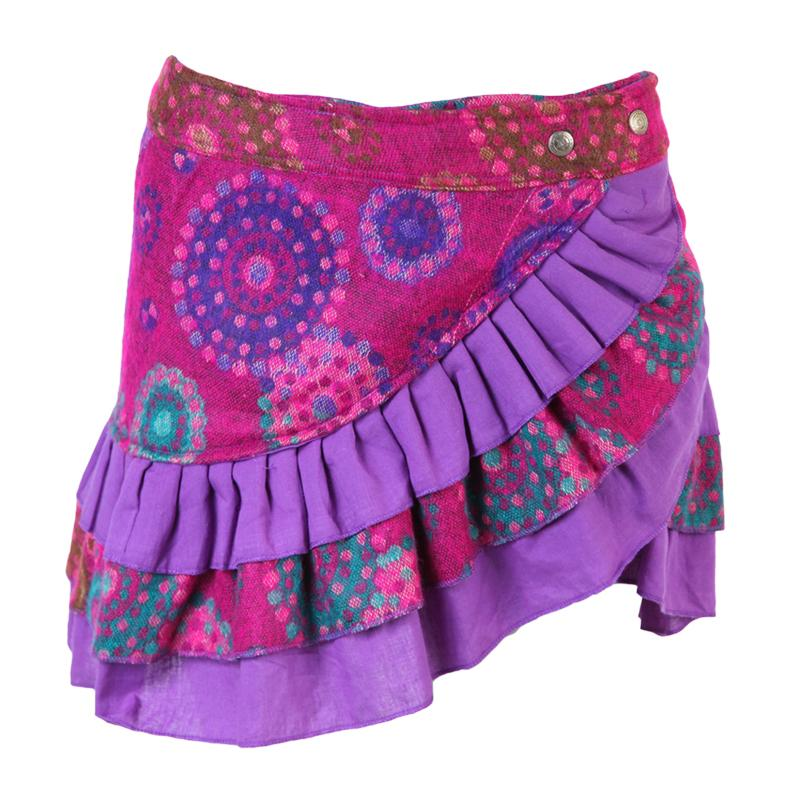 Blanket Mini Popper Skirt