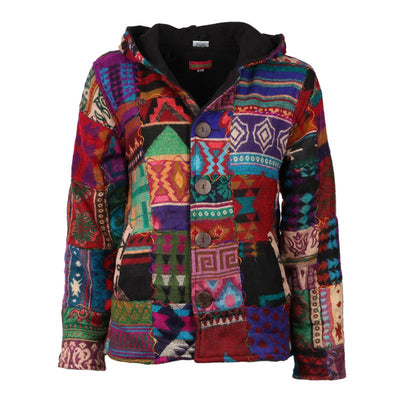 Petite Patchwork Coat Fleece Lined