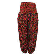 Fleece High Crotch Genie Trousers