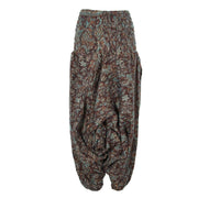 Fleece Low Crotch Harem Pants