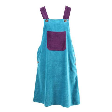 Velvet Pinafore Dungaree Dress